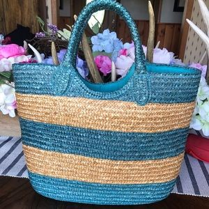 Ralph Lauren Straw Beach Bag